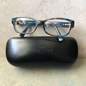 Coach Teal Confetti 5337 Eyeglass Frames And Case